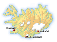 Skaftafell in South East Iceland
