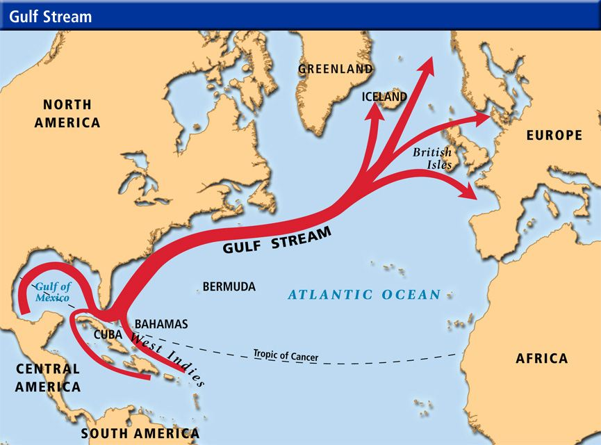 how the gulf stream effects iceland s weather