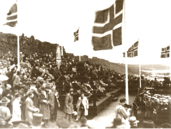 Scenes of jubilation at the Independence ceremony at Thingvellir