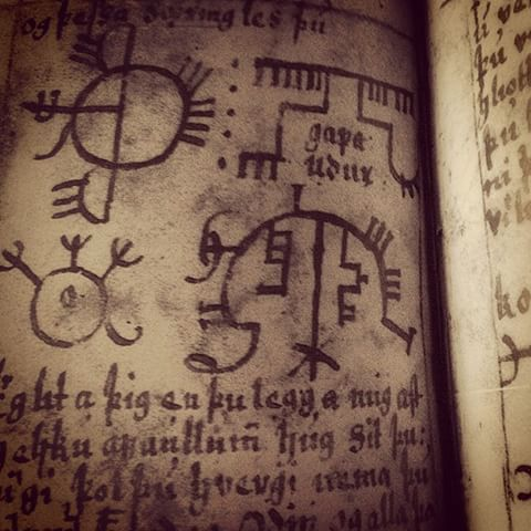 An example of an old Icelandic grimoire