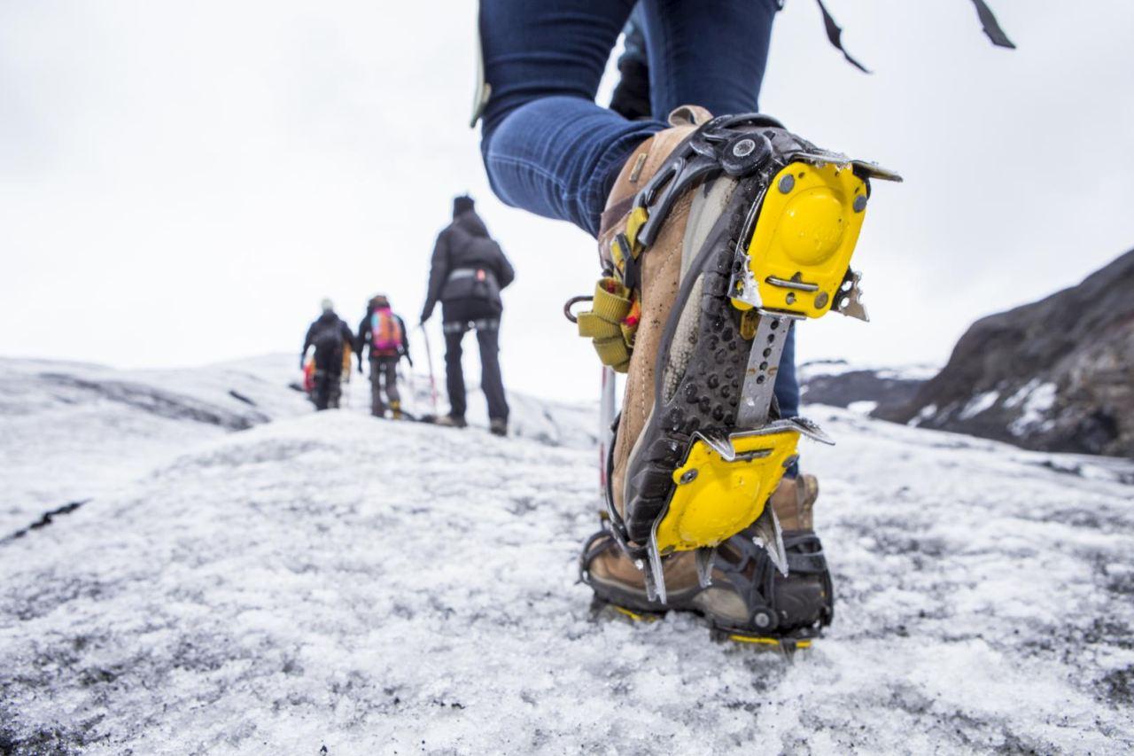 Crampon used for Glacier Walks by Icelandic Mountain Guides on Sólheimajökull Glacier