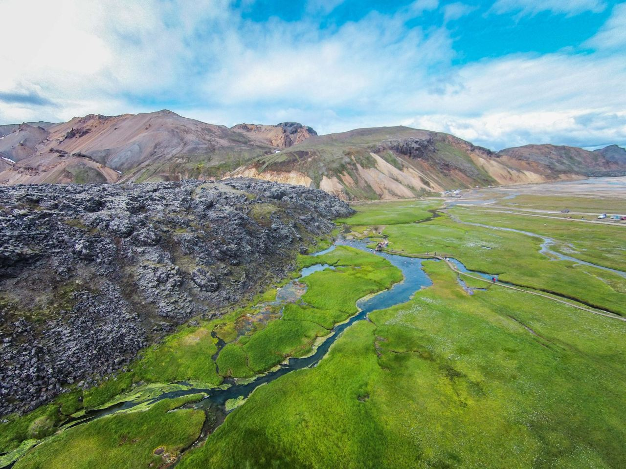 Landmannalaugar from above