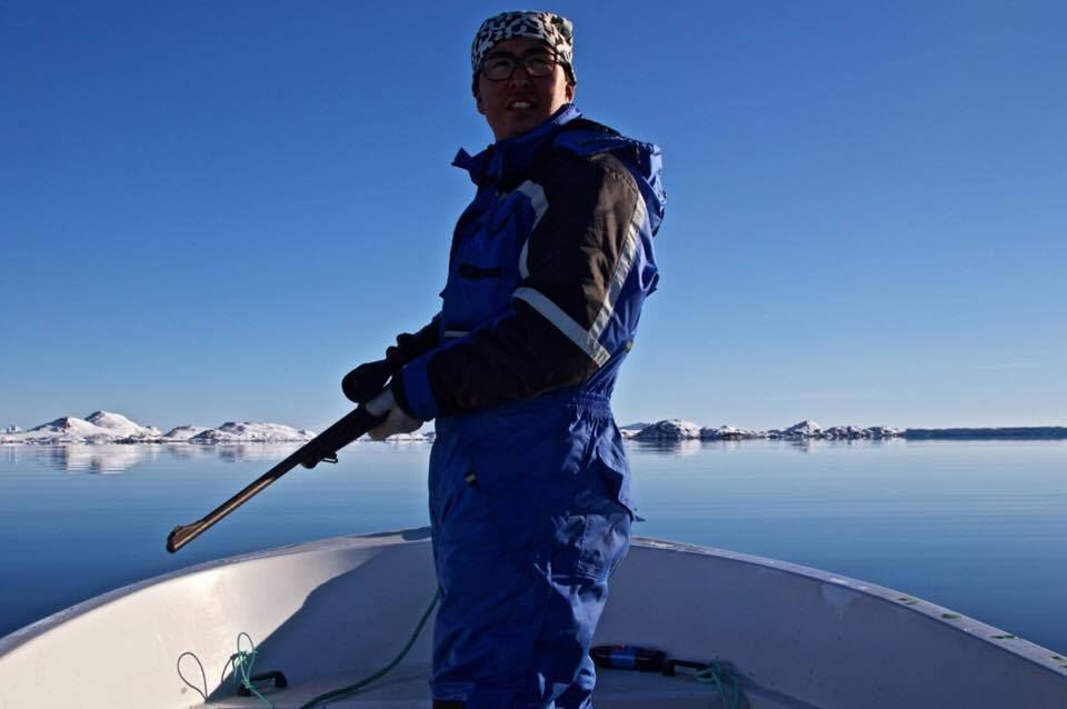 The Profile Of An Inuit Hunter