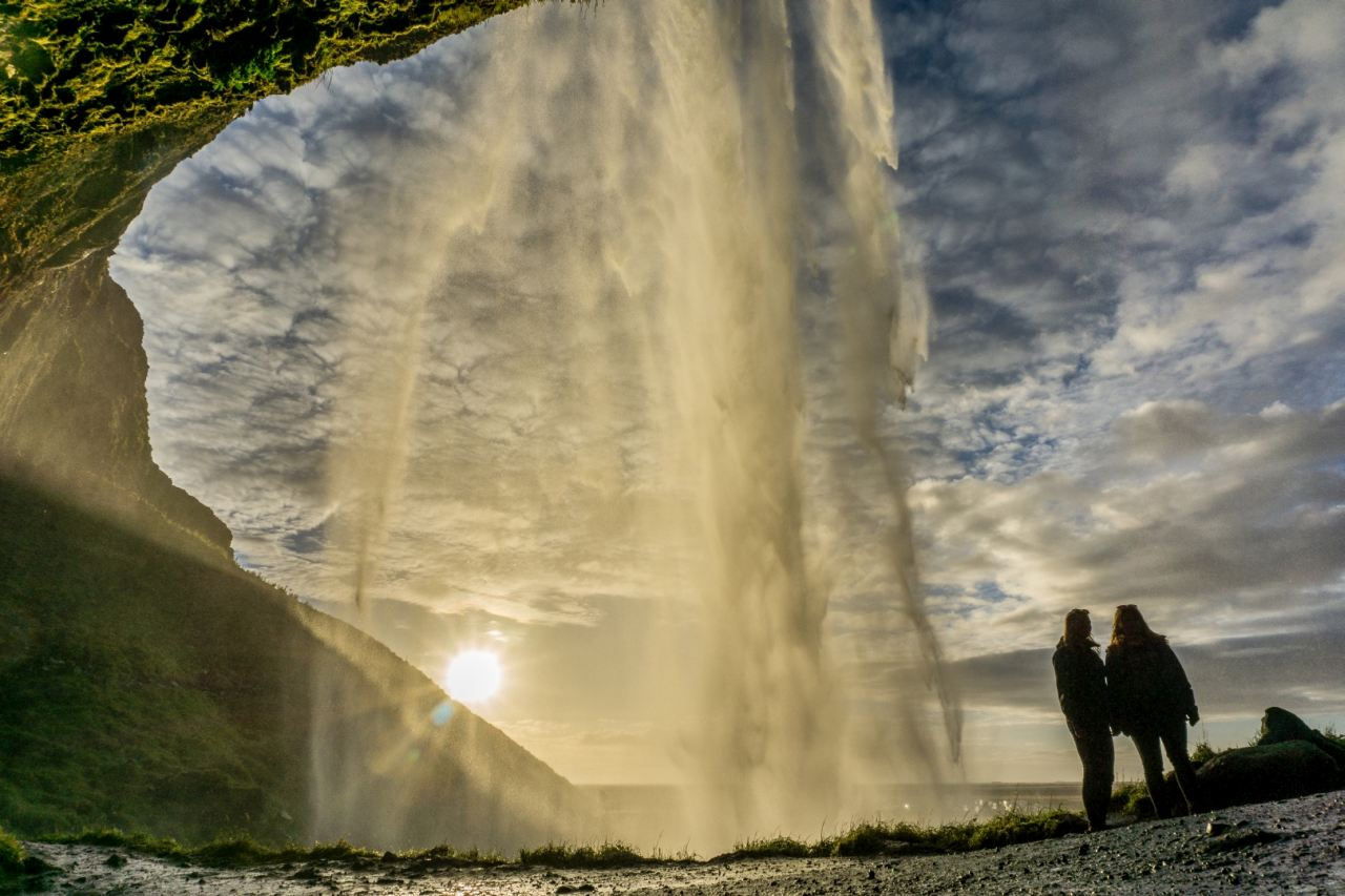 Seljalandsfoss waterfall in the south coast of Iceland - South Shore Glacier Walk and Ice Climbing with Iceland Mountain Guides