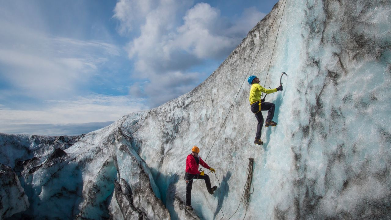 Ice climbing in Iceland in the south shore - South Shore Glacier Walk and Ice Climbing with Iceland Mountain Guides