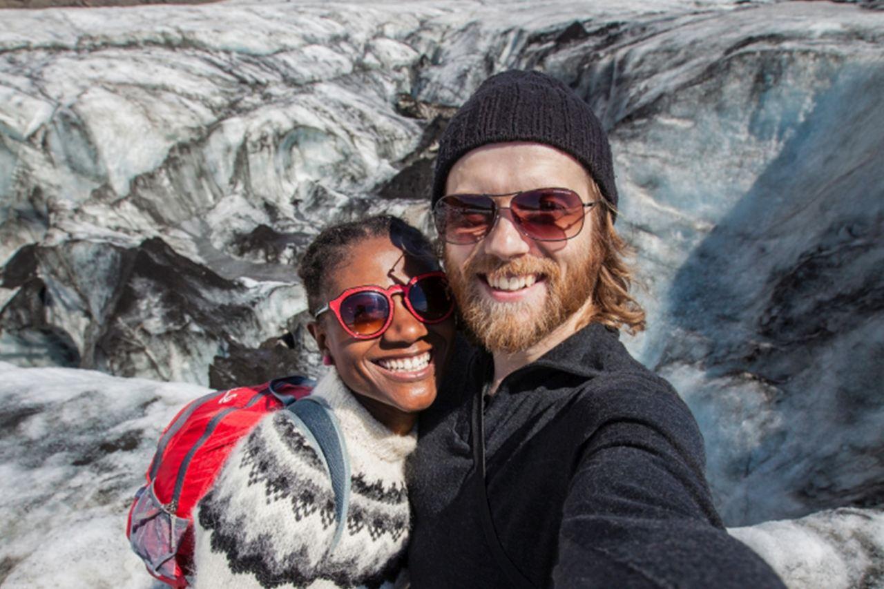 Glacier Selfie on Sólheimajökull