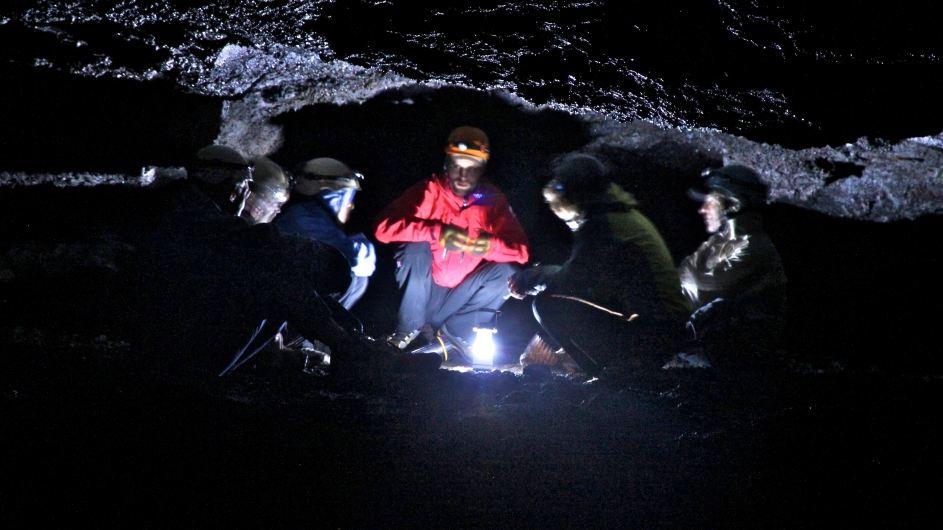 Leiðarendi lava cave tour