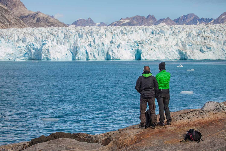Glacier front in Greenland