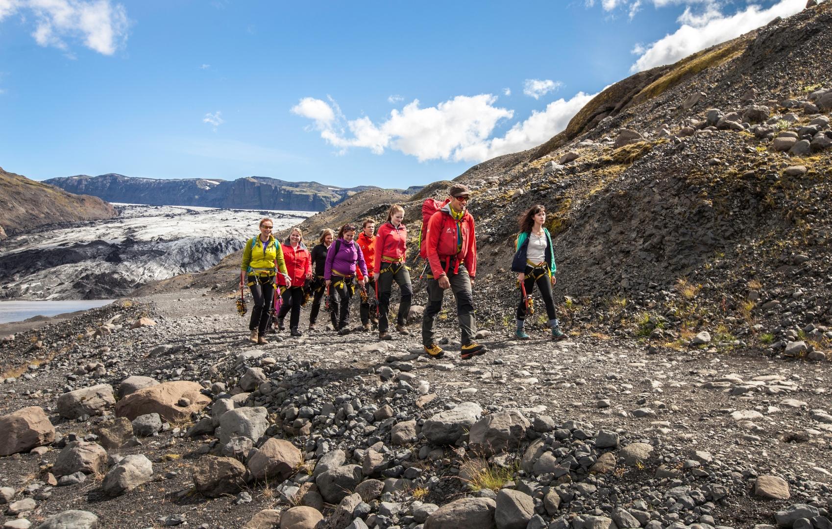 Heading back after the glacier walk