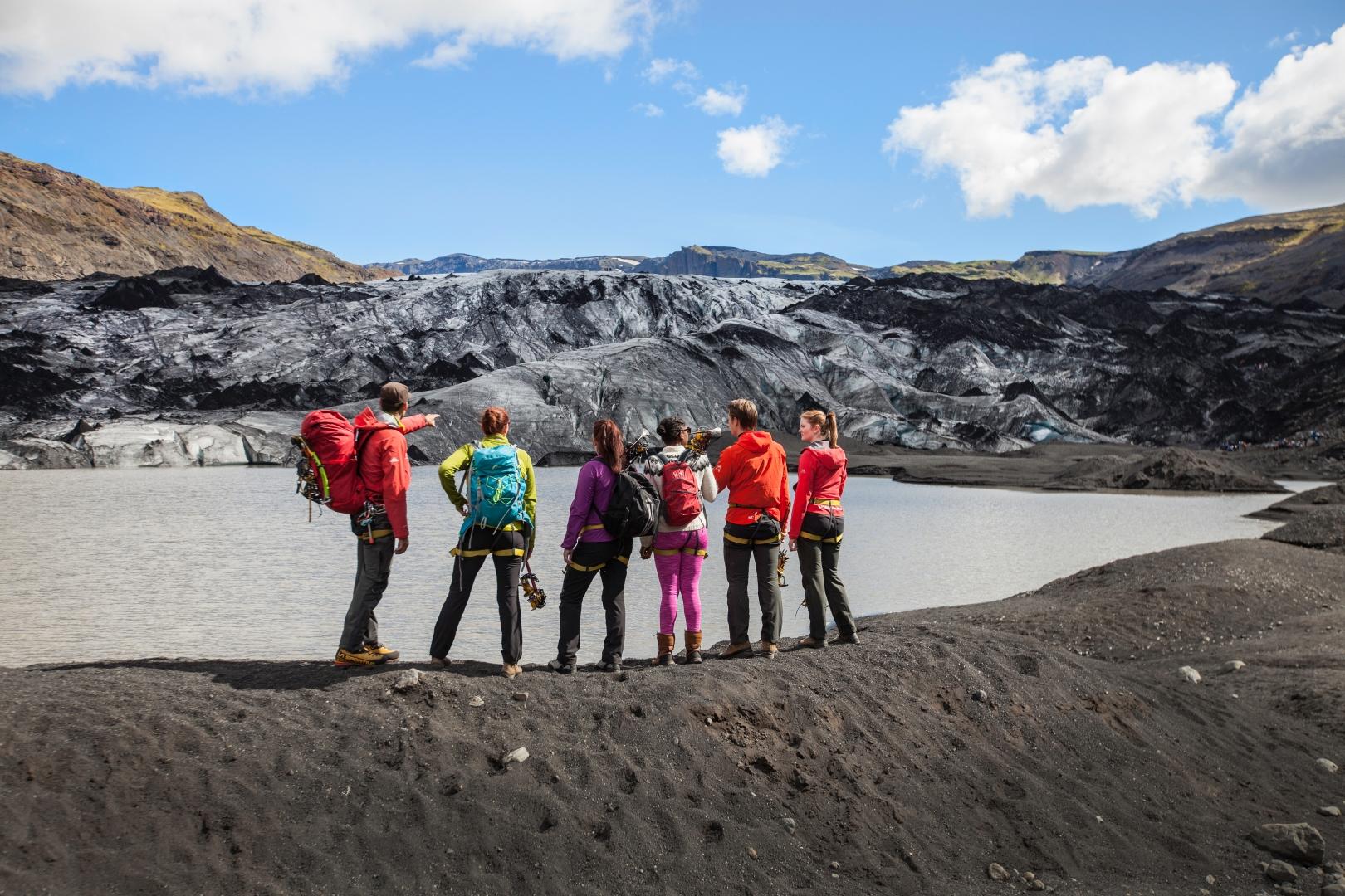 By the terminus of Sólheimajökull glacier