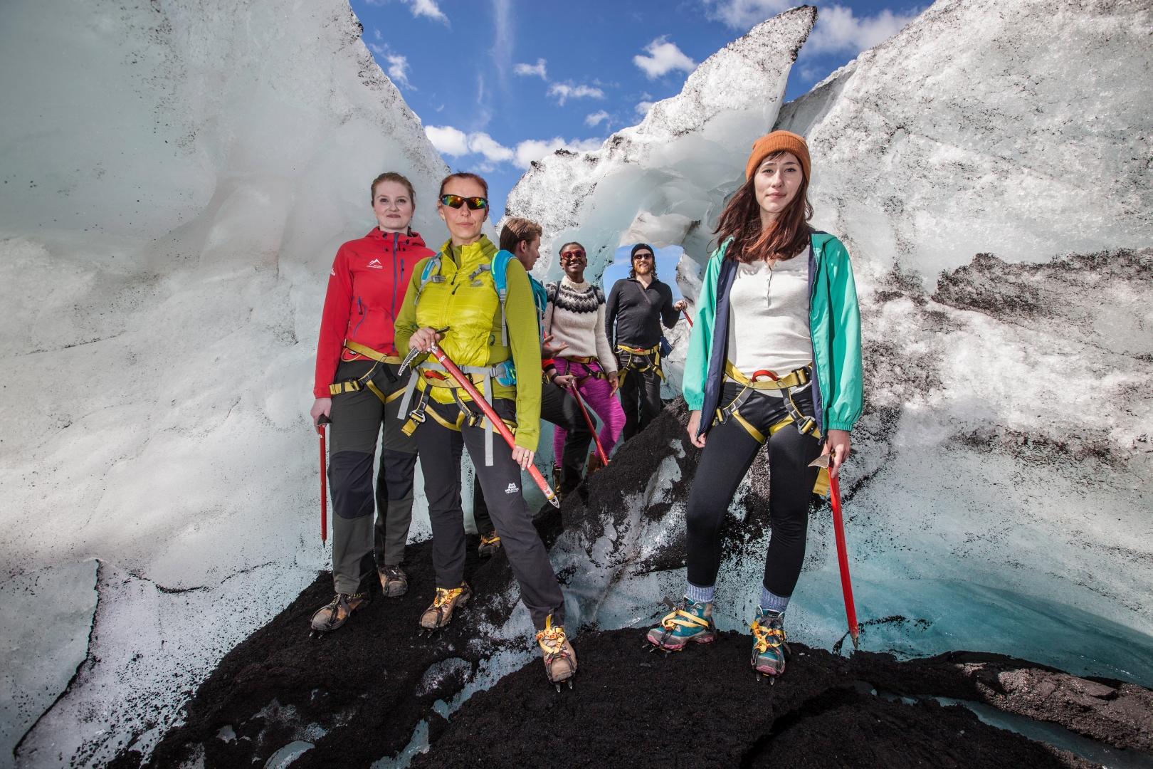Exploring the glacial sculptures