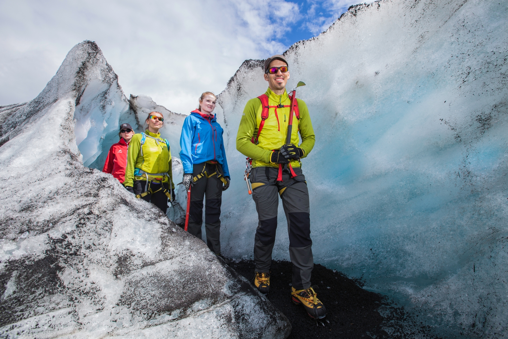 Getting back to the surface of the glacier