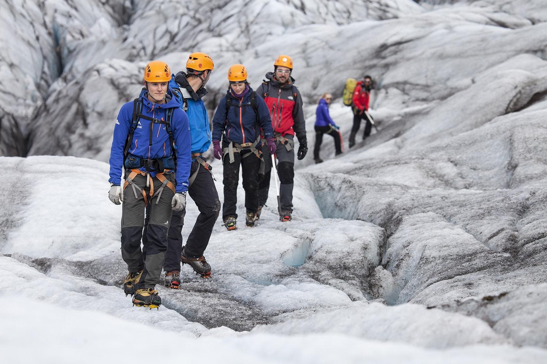 Walking in between the crevasses
