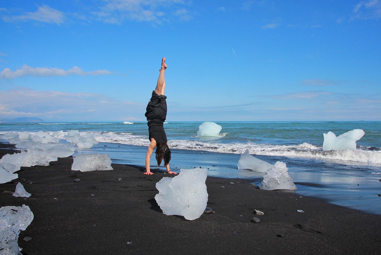 By the ice berg beach