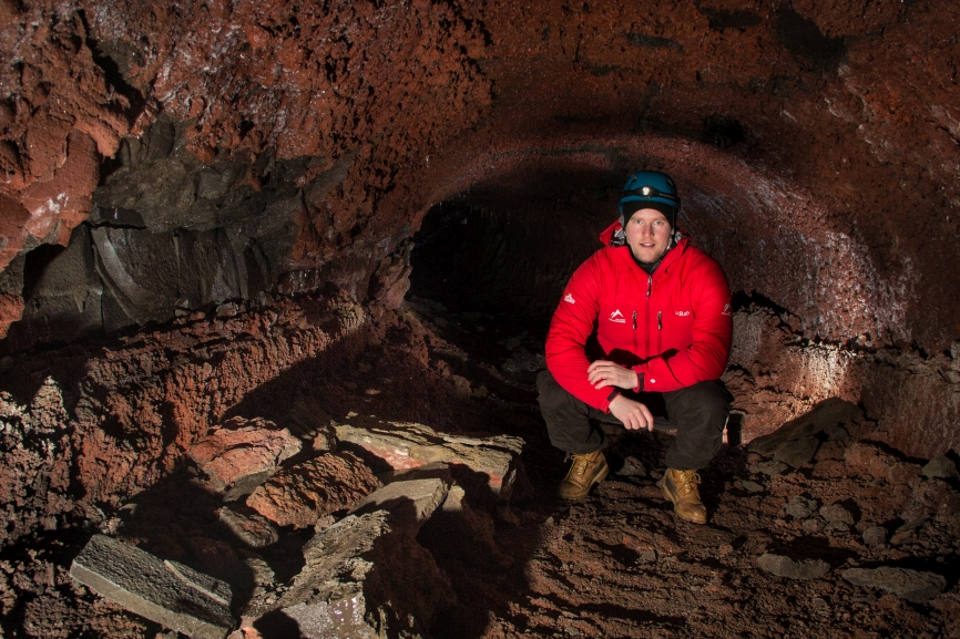 And the lava tube continues deeper in