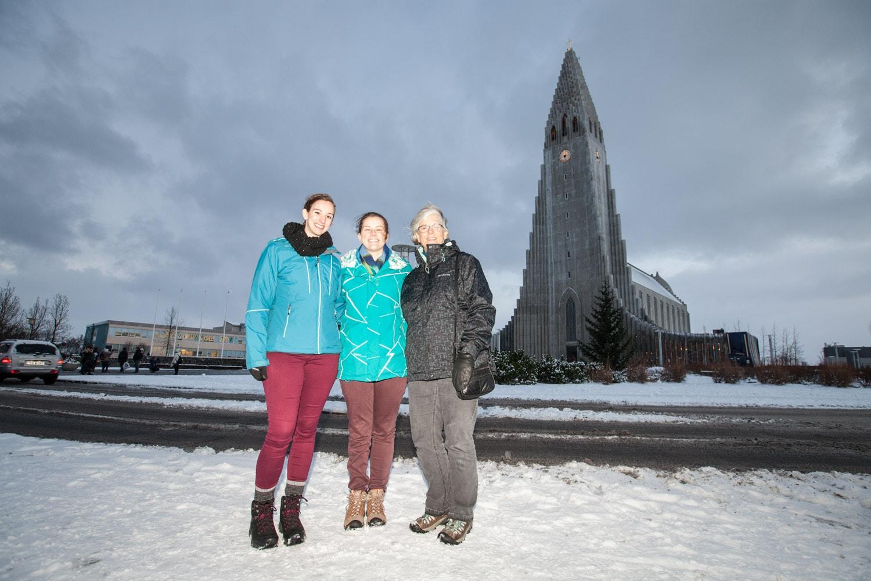 In front of Hallgrímskirkja