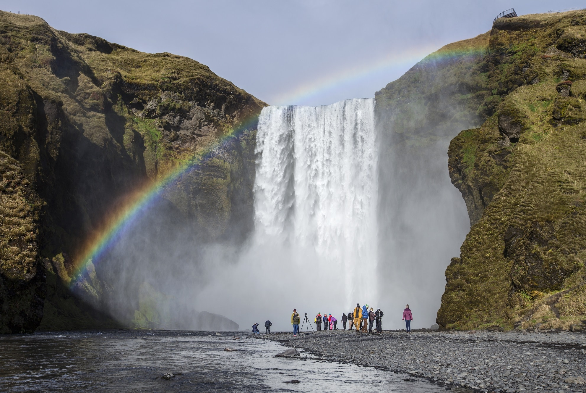 The mighty Skógafoss
