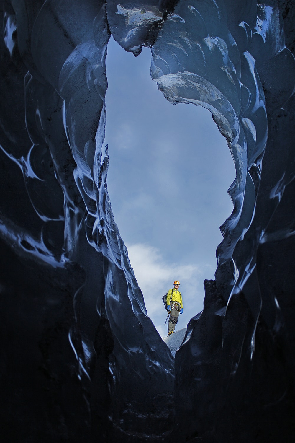 One of the openings of the ice cave