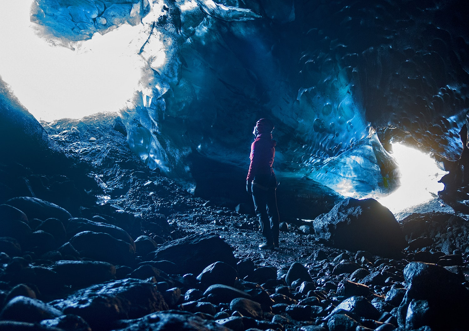 Inside the ice cave