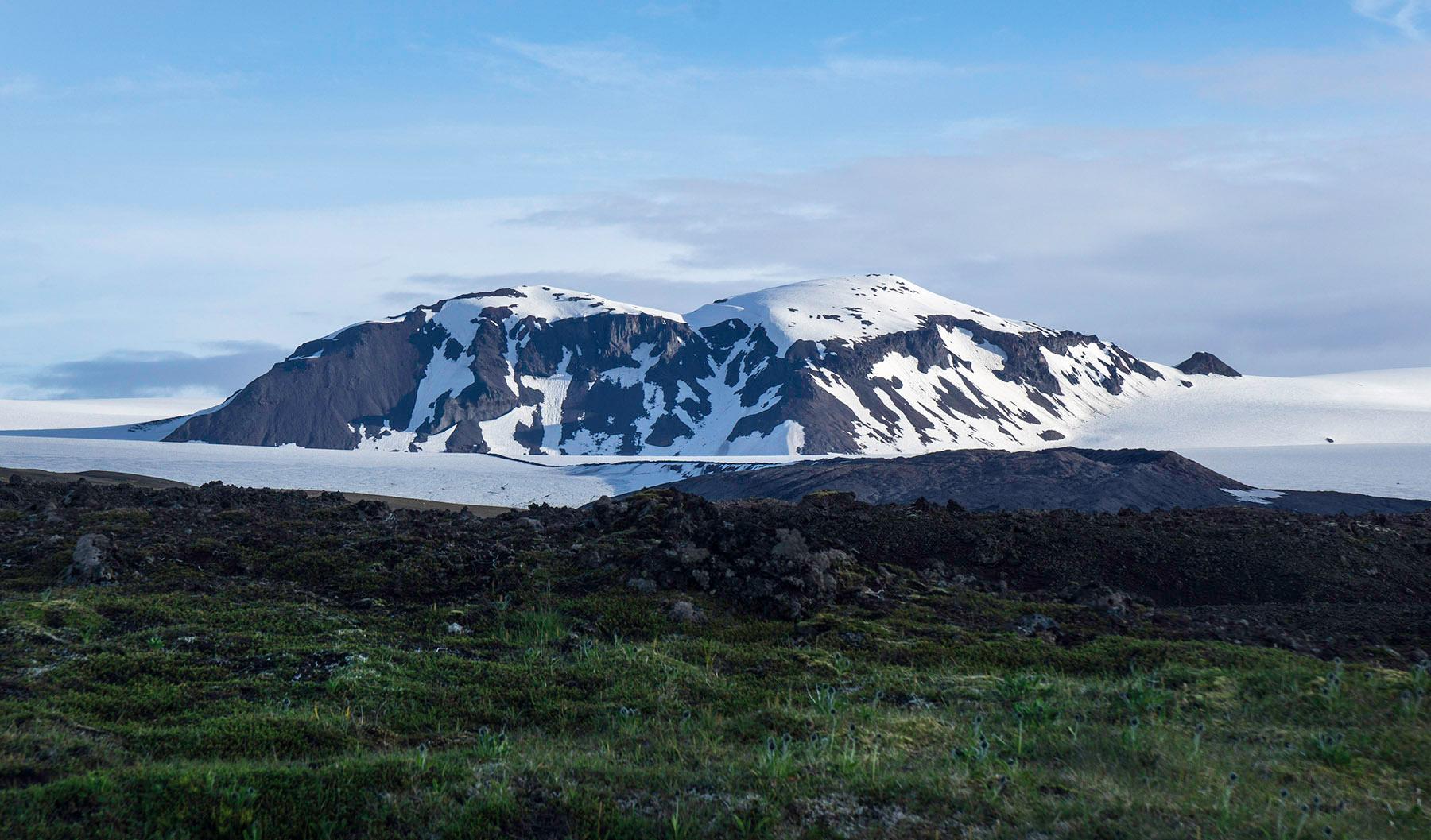 The glacier nearby