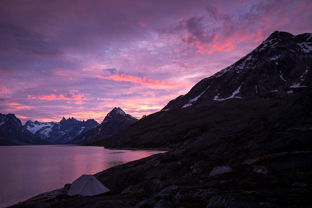 A sunrise full of fantastic colors in East Greenland