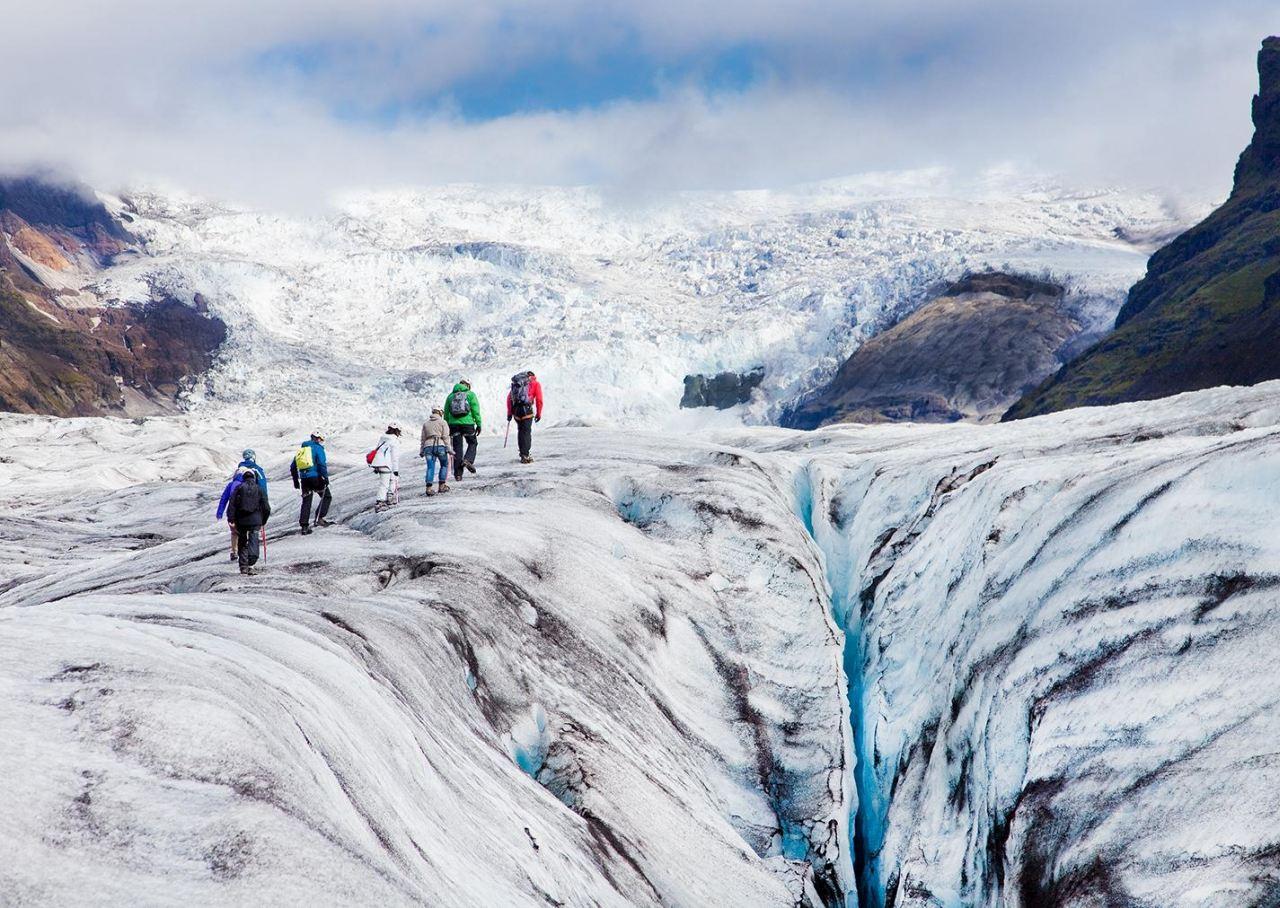 Glacier walk on Svínafellsjökull glacier
