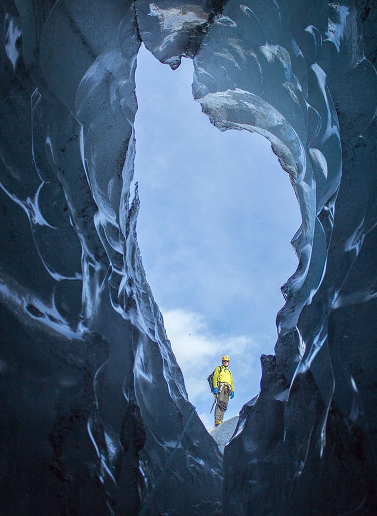 The mouth of the ice cave