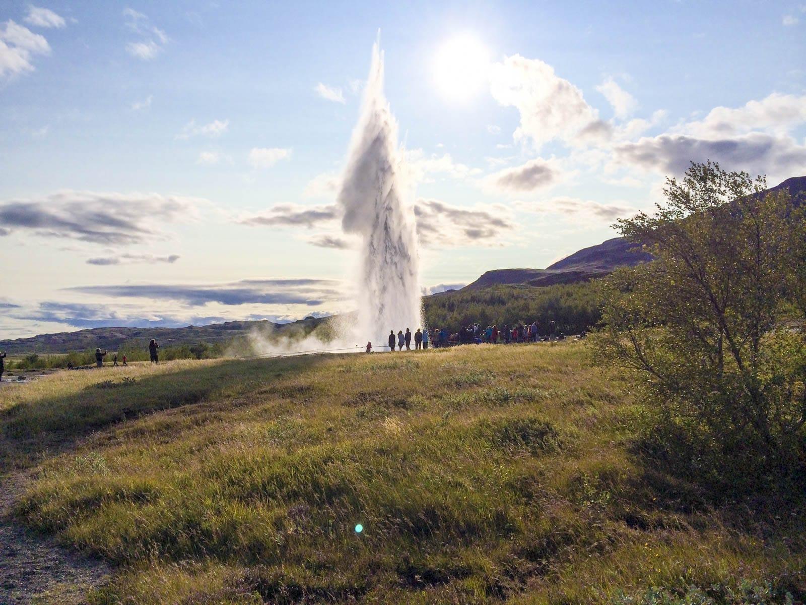 Strokkur hotspring geyser