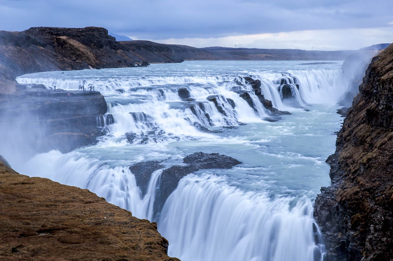 The majestic Gullfoss waterfall