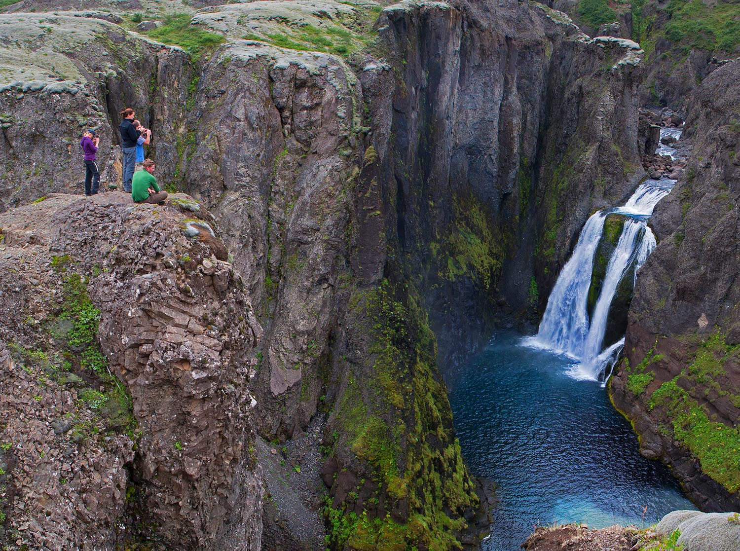 Magnificent waterfalls on the way