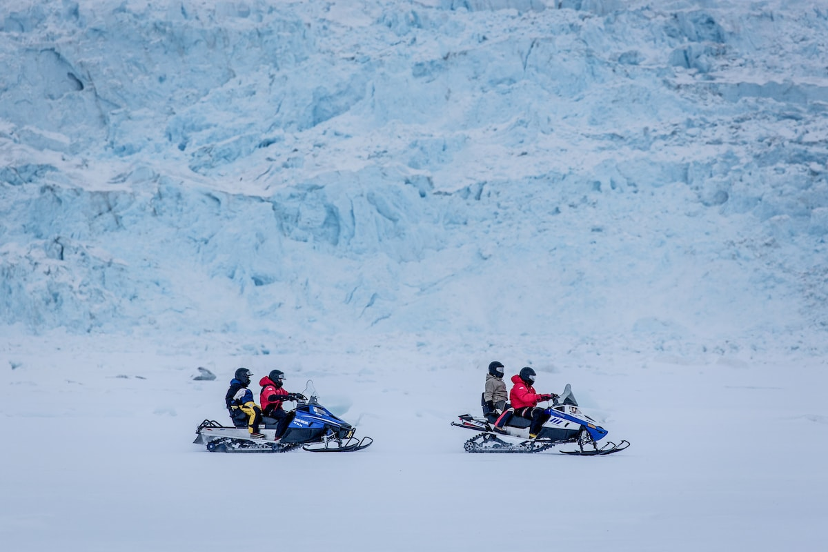 Snowmobiling in Greenland Winter activities
