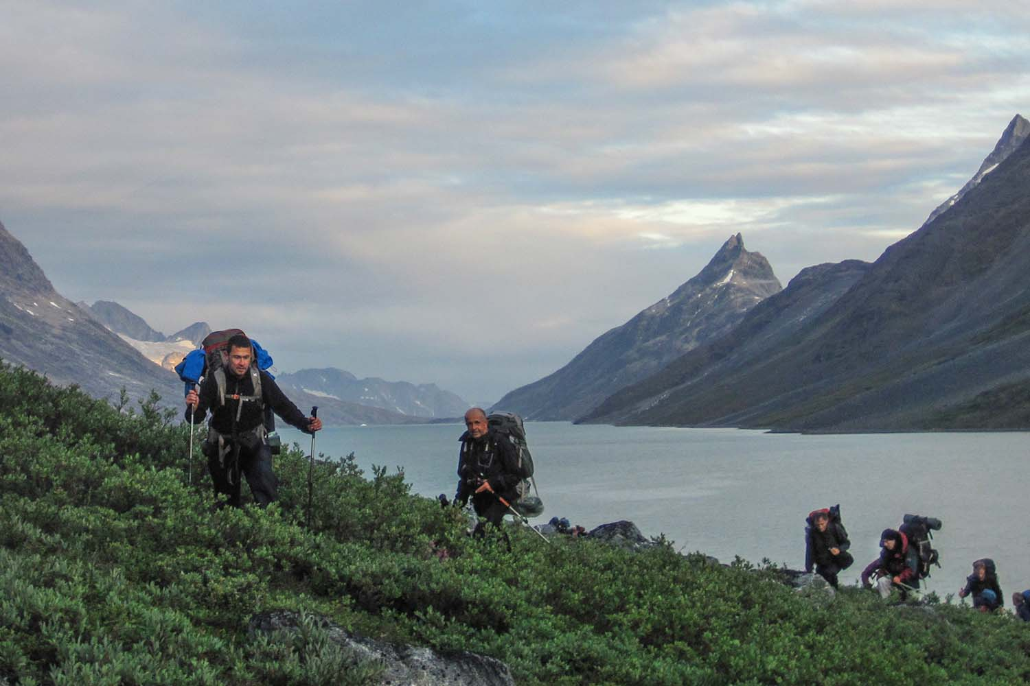 Backpacking along an ancient Inuit Trail