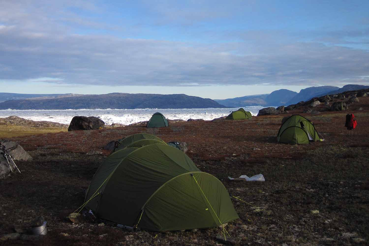 One of our many Icefjord campsites