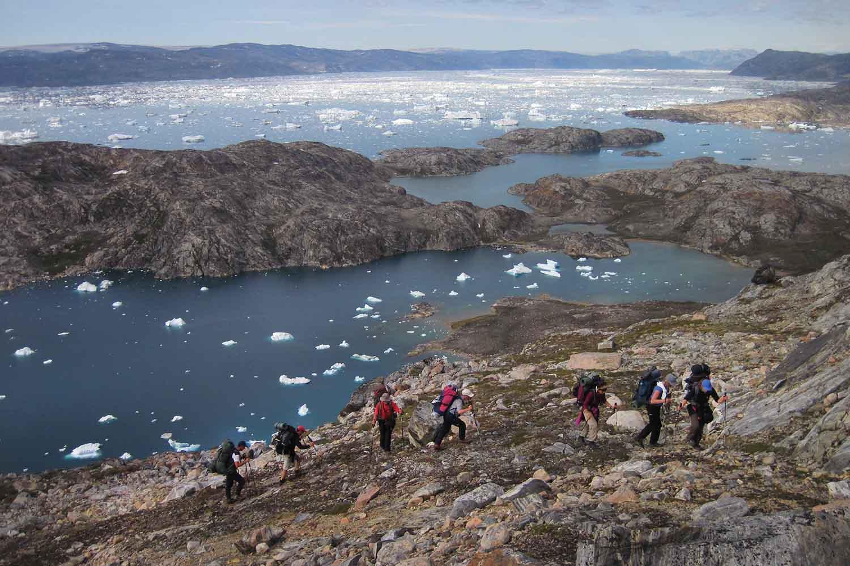 Up above the Sermilik fjord