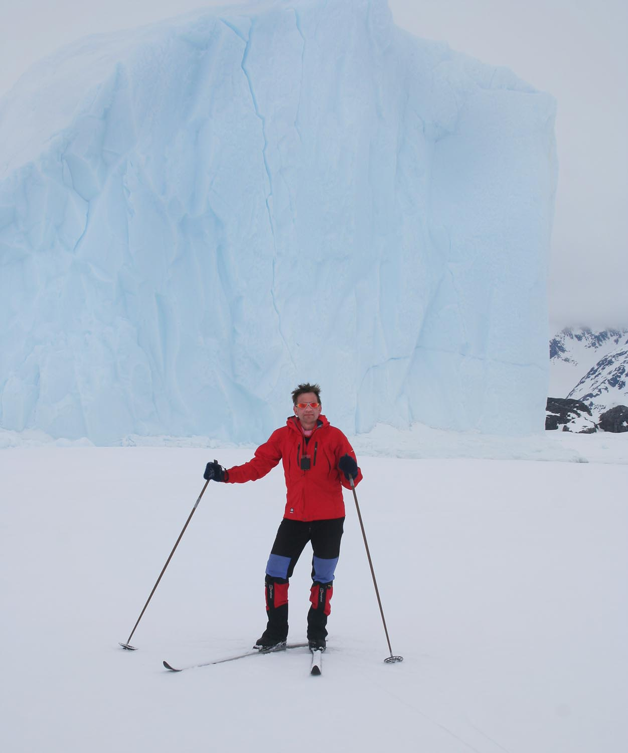 Skiing by the Icebergs