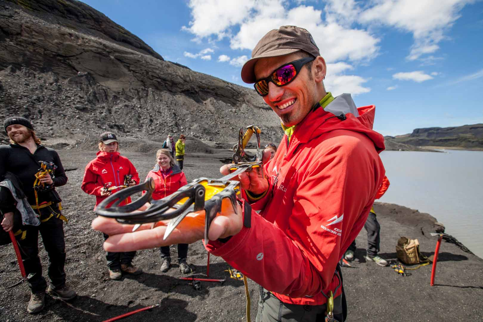 Crampons in the hands of an expert