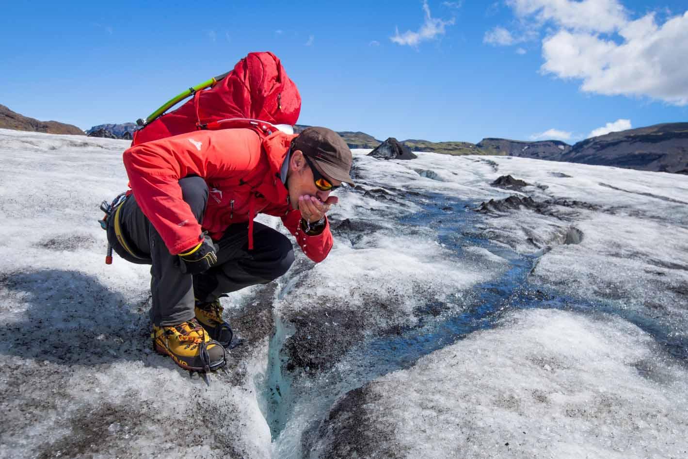 Abundance of ice cold water