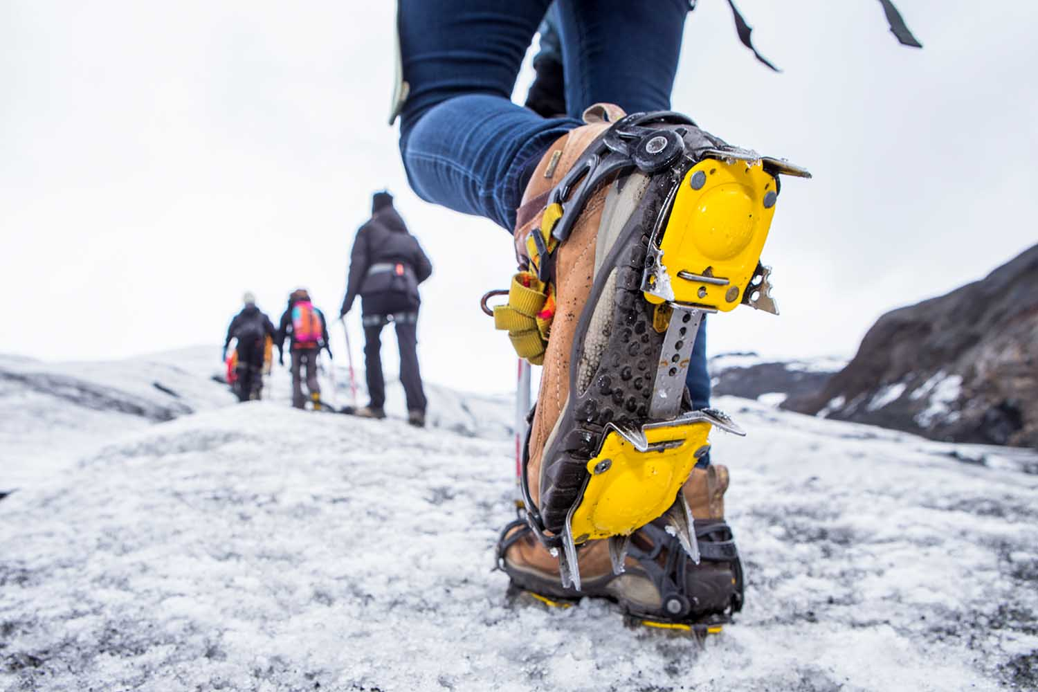 The crampons give good grip