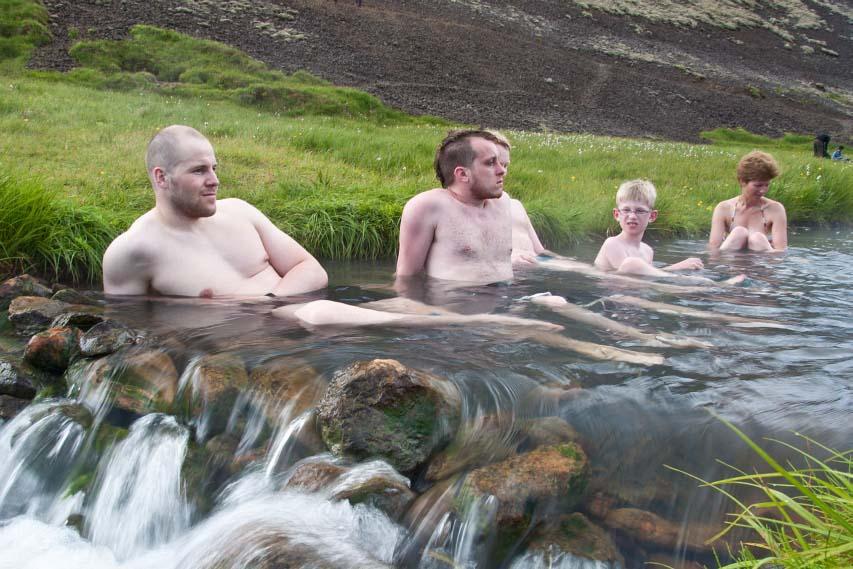 Reykjadalur hot srpring valley