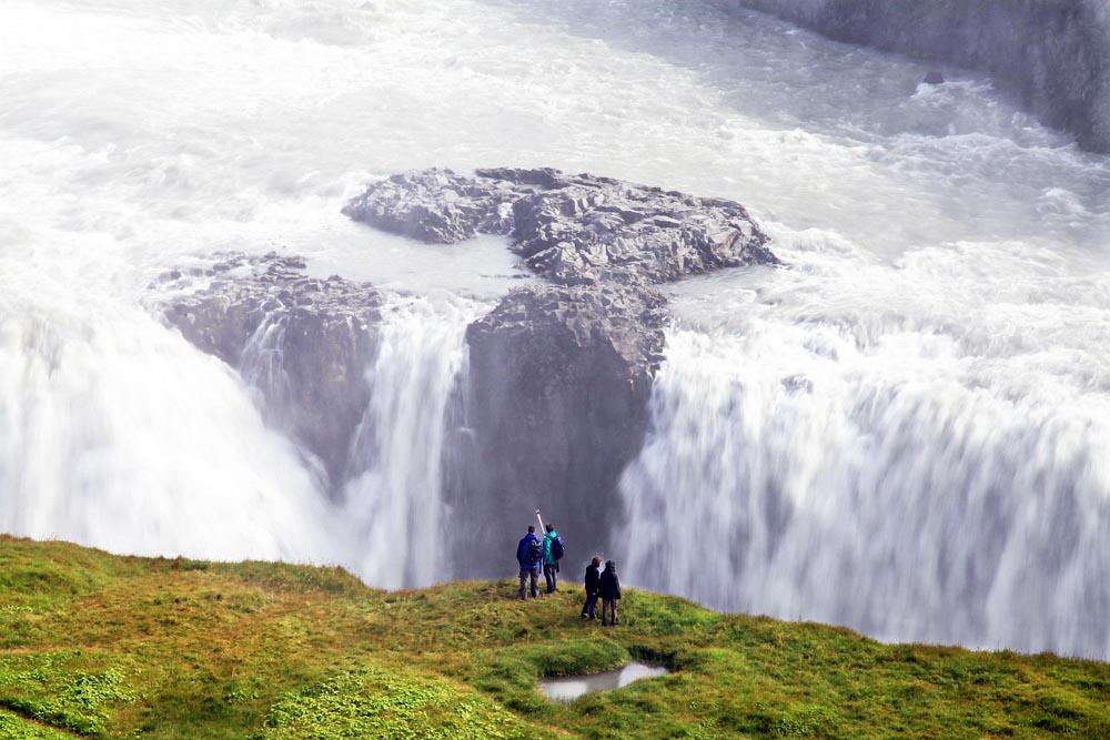 Mjestic Gullfoss waterfall