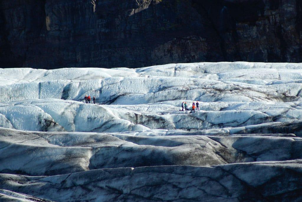 Glacier walk at Svínafellsjökull glacier