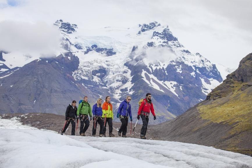 Glacier walk at Svinafellsjokull glacier