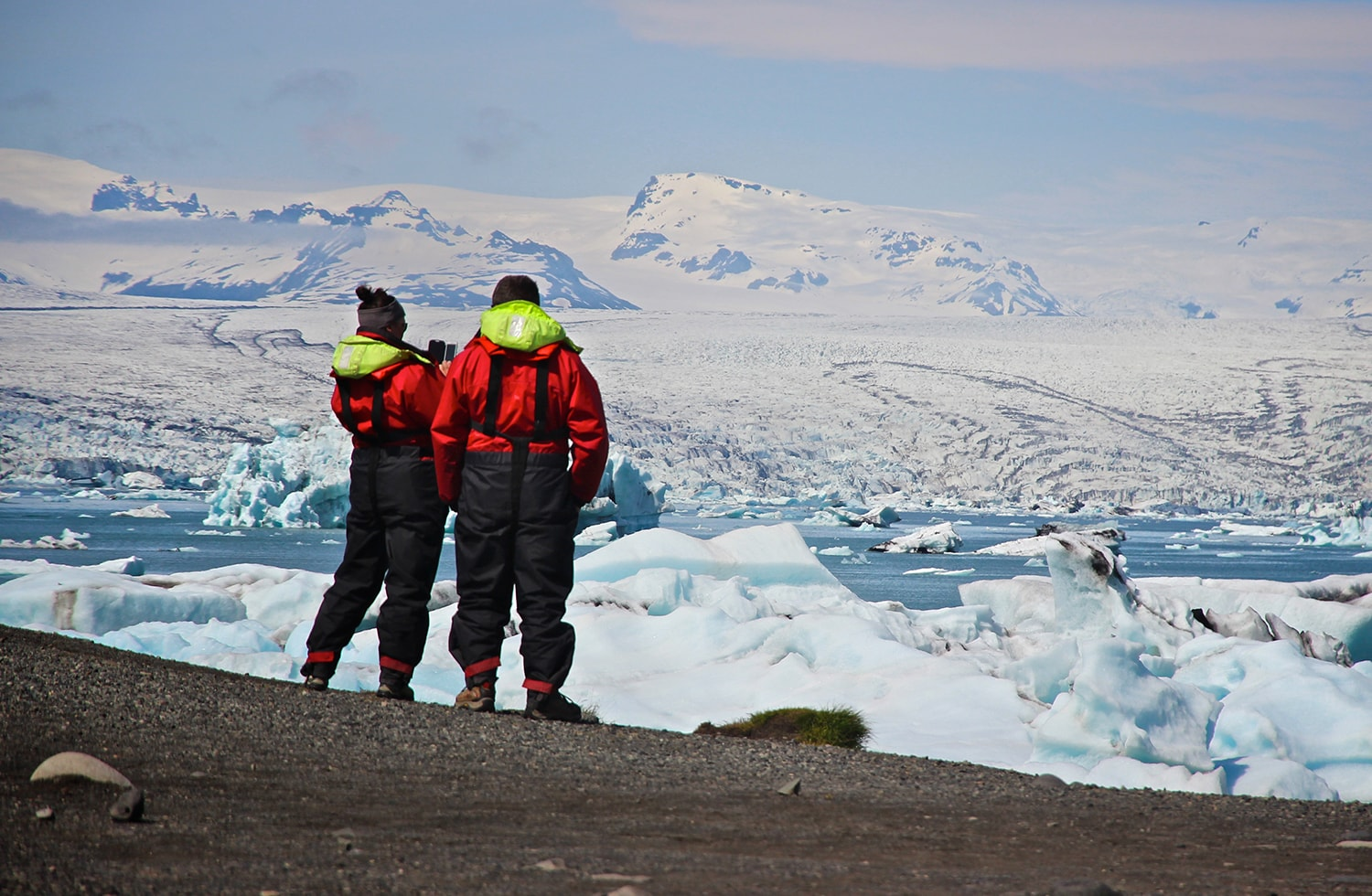 Looking at the magnificent glacier lagoon