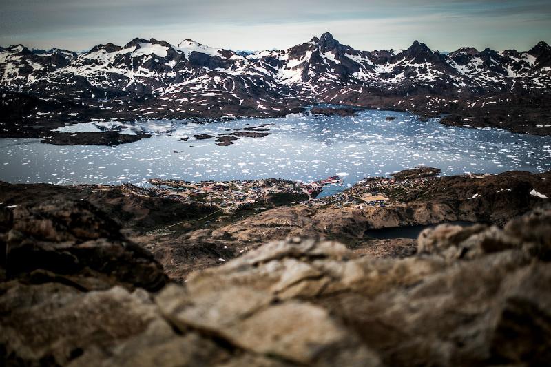 Hike to mt Sømandsfjeldet, above Tasiilaq, East Greenland