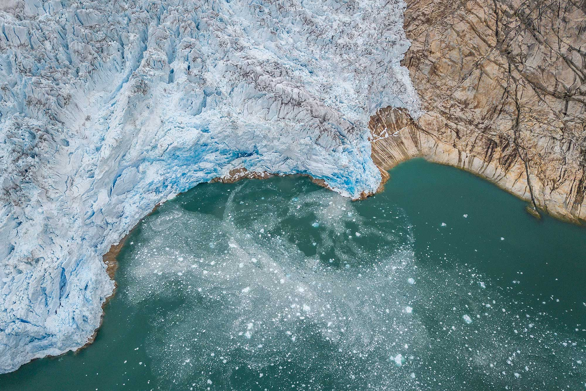 Birds Eye view of the Glacier