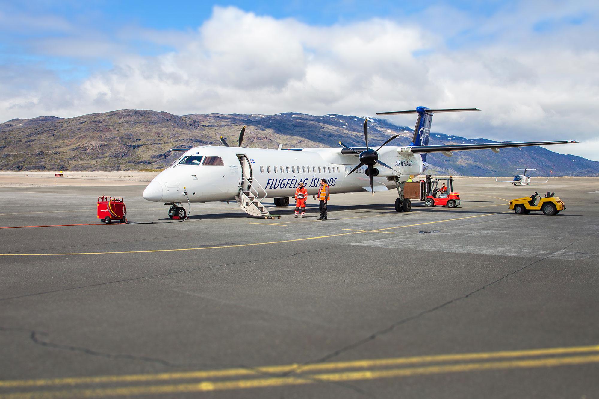 Landing in Narsarsuaq airport, Greenland