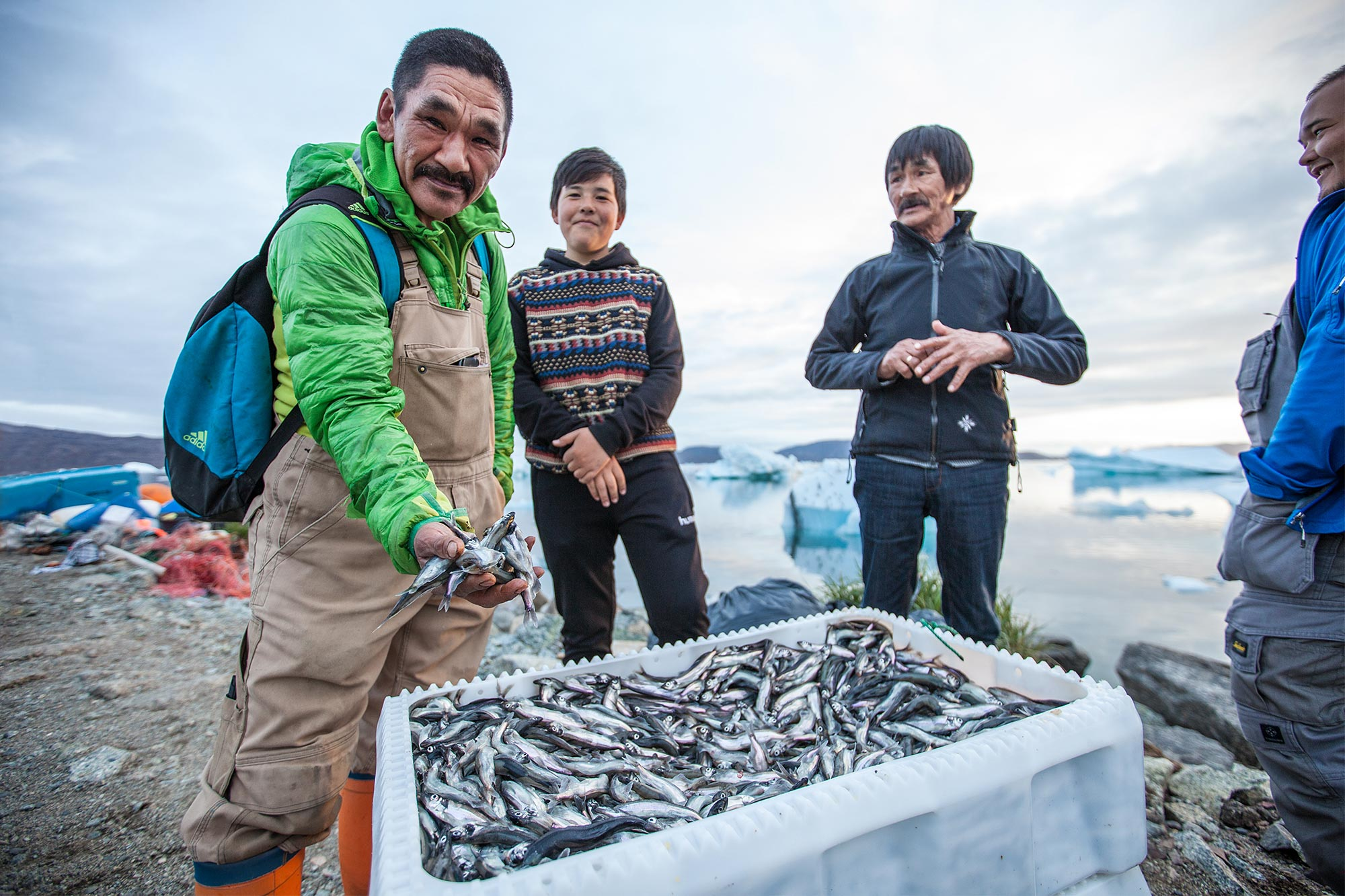 Greenlanders and their catch of the day