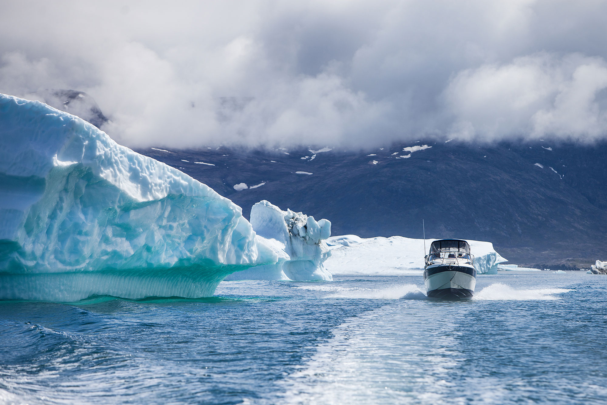 Cruising among the icebergs