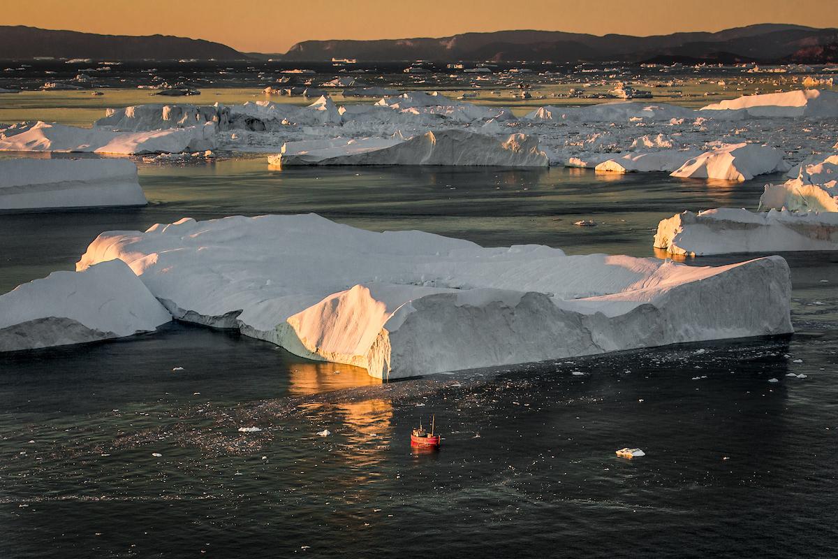 Sunset amongst the Icebergs
