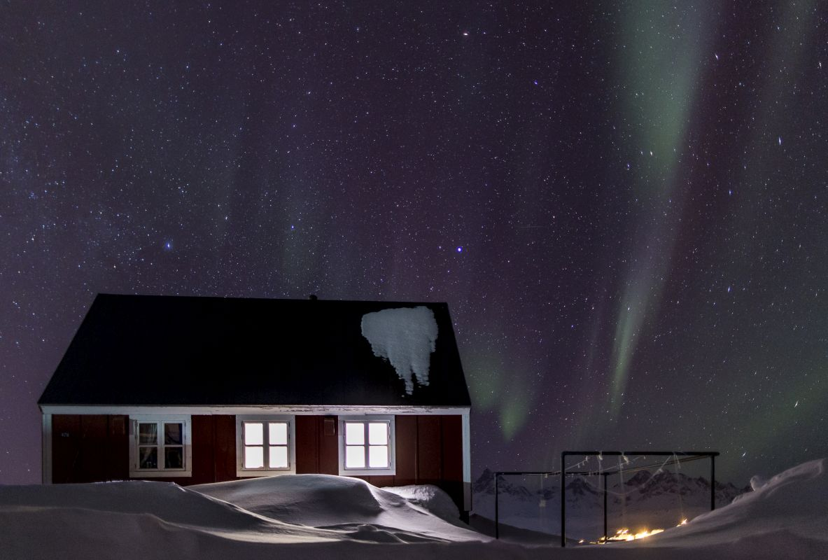 Northern Lights above the village